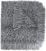 Alexander McQueen leopard skull knit scarf