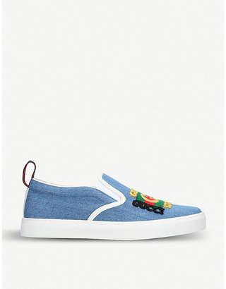 Gucci Dublin denim skate shoes