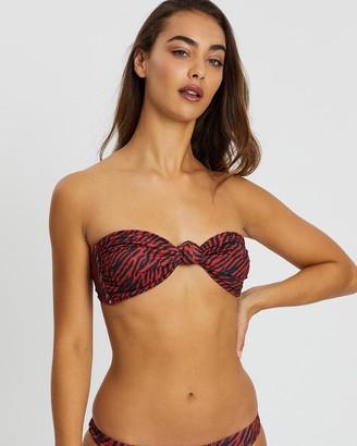 Midnight Swimwear Miami Zebra Bandeau