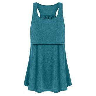 So Buts Maternity Clothes SO-buts Women Maternity Loose Comfy Pull-up Nursing Baby Tank Tops Vest Breastfeeding Pajamas Blouse Casual Fashion Soft Shirt (UK:12