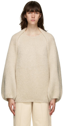 LVIR Off-White Mohair Bolero Sweater