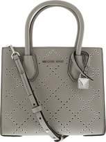 Michael Kors Women's Medium Mercer Stud & Grommet Messenger Leather Top-Handle Bag
