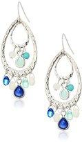 NINE WEST VINTAGE AMERICA Silver-Tone Blue Shaky Orbital Drop Earrings