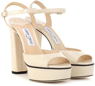 Jimmy Choo Peachy 125 leather plateau sandals