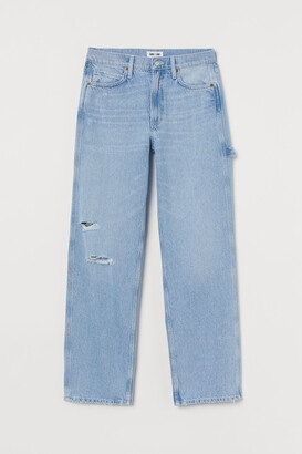 H&M Slouch Straight High Jeans
