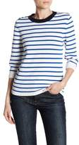 Kier & J Striped 3/4 Length Sleeve Sweater