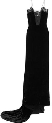 Stella McCartney Clementine Lace-trimmed Crushed-velvet Gown