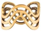 Oscar de la Renta Openwork Wave Hinged Cuff Bracelet