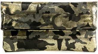 Cofi Mollie Cross-Body Convertible Clutch: Black Gold Camouflage