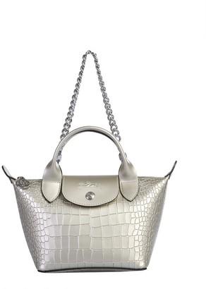 "Longchamp Mini ""La Pliage Cuir"" Bag"