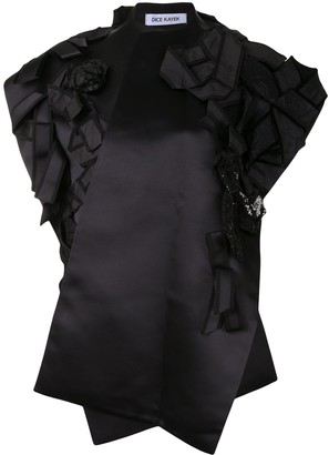 Dice Kayek Bow-Detail Embellished Gilet