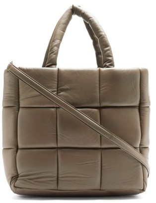 Stand Studio Assante Quilted-leather Tote Bag - Brown