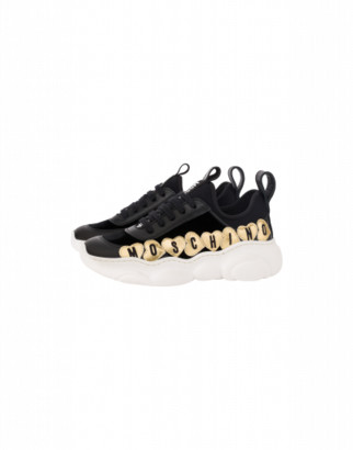Moschino Sneakers Teddy Shoes Hearts Lettering
