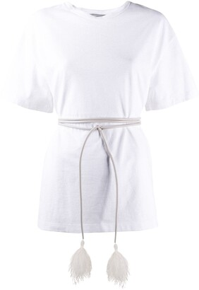 Valentino belted oversized short-sleeved T-shirt