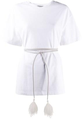 Valentino belted oversized short-sleeved T-shirt