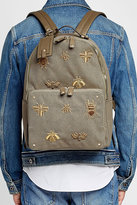 Valentino Embroidered Canvas Backpack