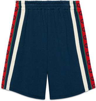 Gucci Children's cotton shorts with InterlockingG