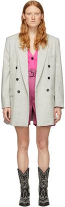 Etoile Isabel Marant Grey Wool Eagan Blazer