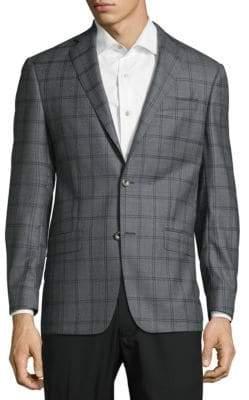 Michael Kors Patterned Wool Suit Jacket