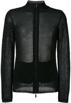 Emporio Armani zip up cardigan - men - Cotton/Polyamide - 46