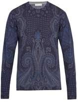Etro Paisley-pattern Wool-blend Sweater