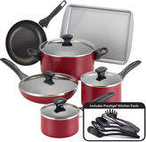 Farberware 15-pc.Nonstick Cookware Set with Prestige Kitchen tools