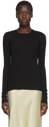 Helmut Lang Black Double Layer Long Sleeve T-Shirt