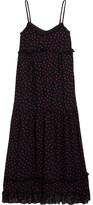 McQ by Alexander McQueen Ruffled Polka-dot Georgette Midi Dress - Black
