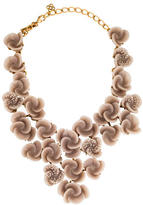 Oscar de la Renta Resin Flower Bib Necklace