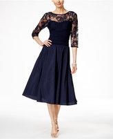 Jessica Howard Three-Quarter-Sleeve A-Line Dress