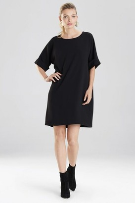 Natori Solid Crepe T-Shirt Dress