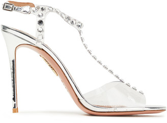 Aquazzura Crystal-embellished Pvc Sandals