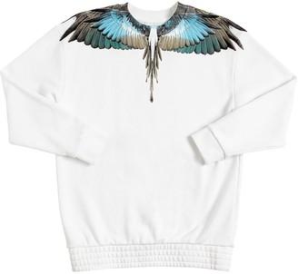 Marcelo Burlon County of Milan Wings Print Cotton Sweatshirt