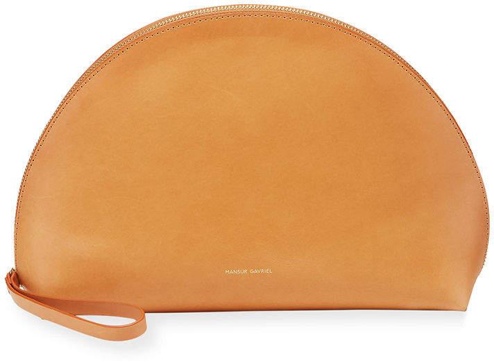 Mansur Gavriel Moon Leather Clutch Bag