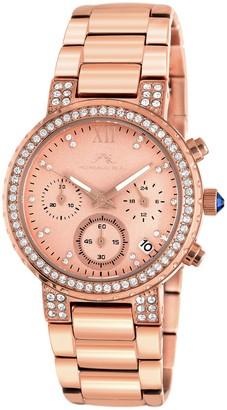 Porsamo Bleu Women's Pilar Swarovski Crystal Accented Quartz Watch, 36mm