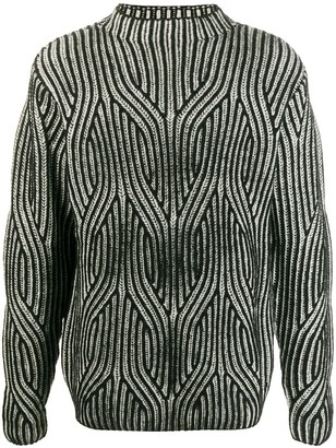 Karl Lagerfeld Paris Two-Tone Knitted Jumper