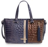 Brahmin Andesite Orba - Mini Asher Leather Tote - Blue