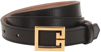 Givenchy 20mm Grained Leather Belt