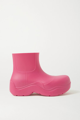 Bottega Veneta Rubber Rain Boots - Bright pink