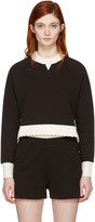 McQ by Alexander McQueen Black Contrast Raglan Pullover