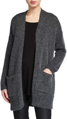 Eileen Fisher Plus Size Air Wool/Mohair Shawl-Collar Cardigan