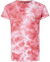 Topman Pink Aurora Print Muscle Fit Roller T-Shirt