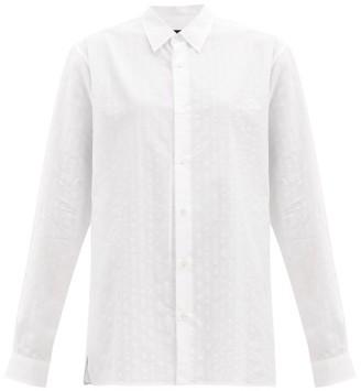 Ann Demeulemeester Pointelle-striped Cotton Shirt - White