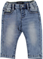 Mayoral Faded Straight-Leg Faux Jeans, Blue, Size 6-36 Months