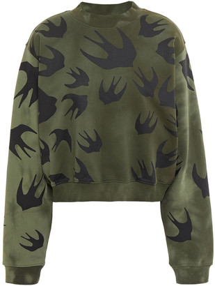 McQ Tie-dyed Printed French Cotton-terry Sweatshirt