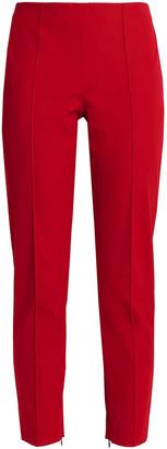 Theory Cropped Cotton-blend Twill Straight-leg Pants