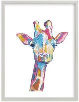 Pottery Barn Kids Mr. Giraffe Wall Art by Minted(R) 18x24