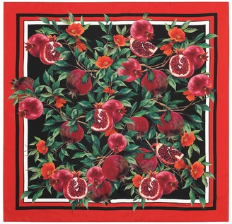 Dolce & Gabbana Exclusive to Mytheresa - Pomegranate-print silk scarf