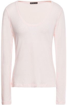 James Perse Brushed Cotton-blend Jersey Top