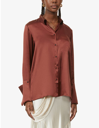BITE Studios Oversized organic-silk shirt